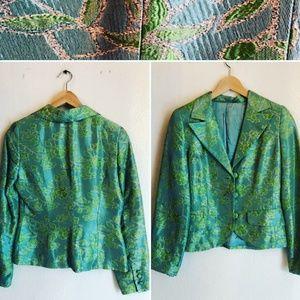 Vintage Floral Brocade Blazer